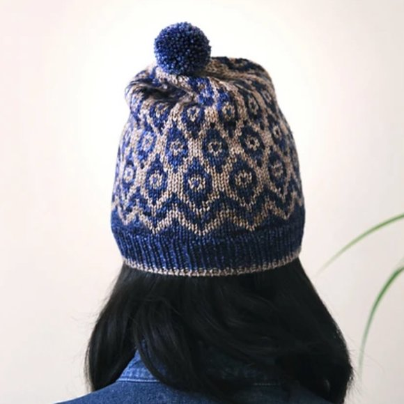 Hand Knit Patterned Beanie